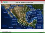mapa de infraestructura actual