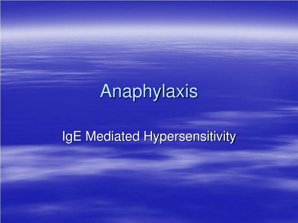 anaphylaxis l.
