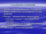 mediators involved