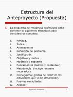 estructura del anteproyecto propuesta