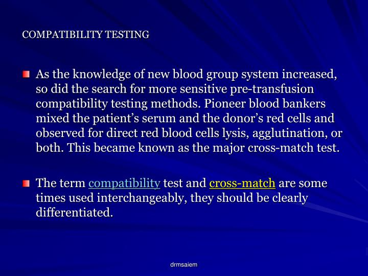 Compatibility testing3