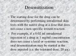 desensitization