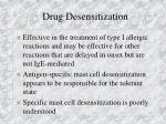 drug desensitization