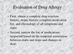 evaluation of drug allergy