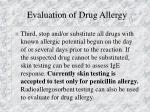 evaluation of drug allergy14