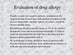 evaluation of drug allergy17