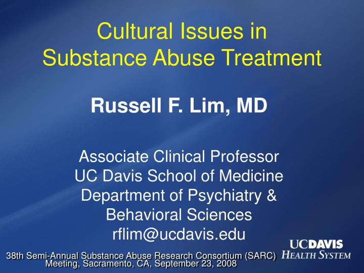 cultural issues in substance abuse treatment n.