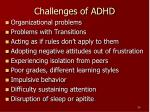 challenges of adhd