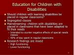 education for children with disabilities