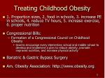 treating childhood obesity