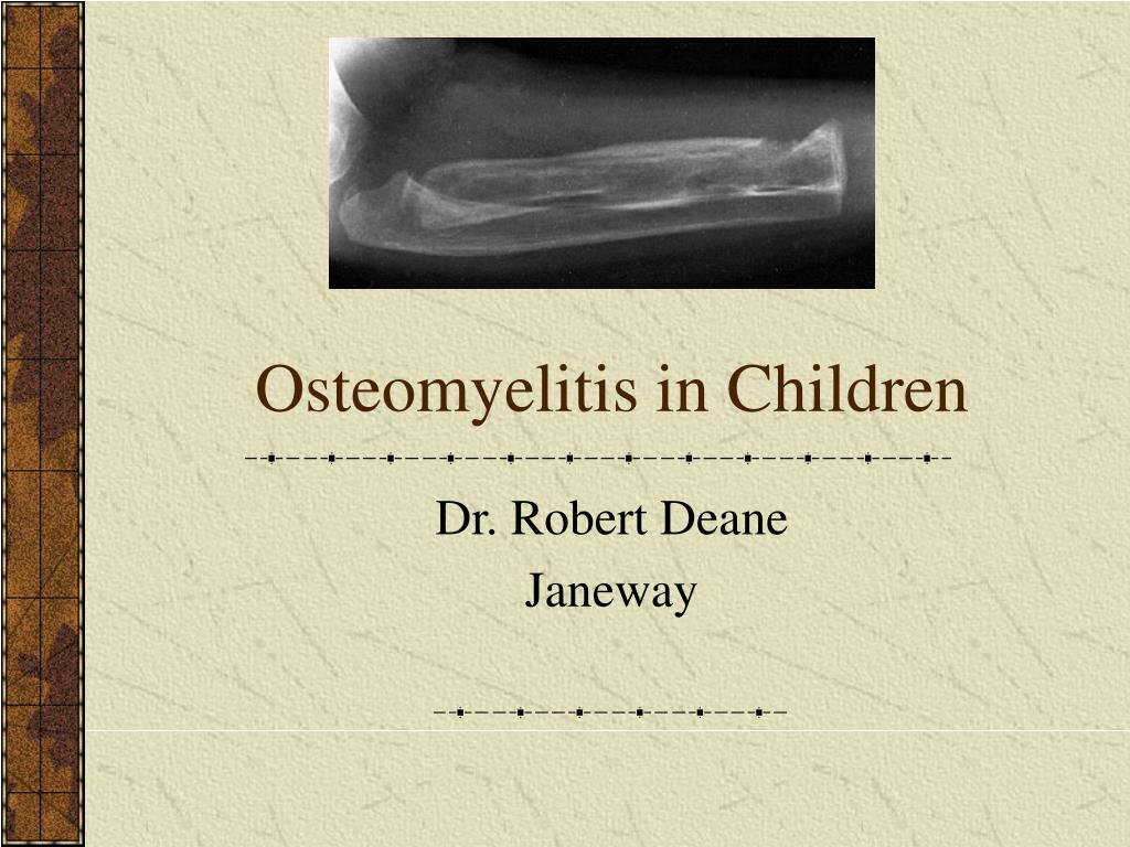 osteomyelitis in children l.