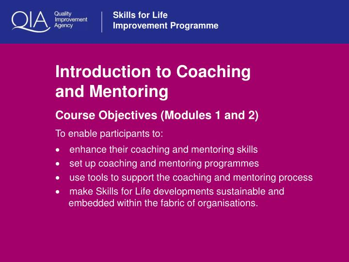 introduction to coaching and mentoring n.