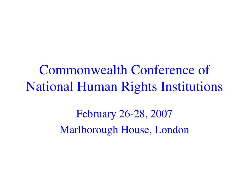 commonwealth conference of national human rights institutions l.
