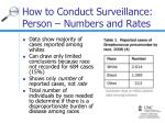 how to conduct surveillance person numbers and rates14