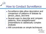 how to conduct surveillance