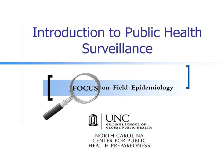 introduction to public health surveillance n.