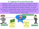a lapping of accounts receivable