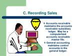 c recording sales