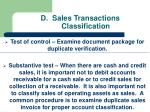 d sales transactions classification
