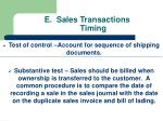 e sales transactions timing