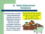 sales adjustment existence
