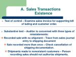 sales transactions existence