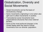 globalization diversity and social movements