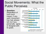 social movements what the public perceives22