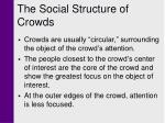 the social structure of crowds
