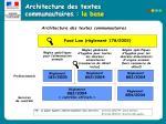 architecture des textes communautaires la base