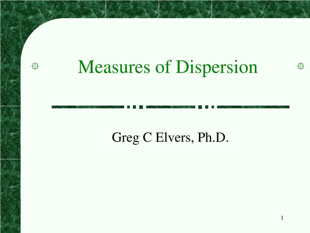 measures of dispersion l.
