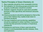 twelve principles of green chemistry 2