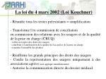 la loi du 4 mars 2002 loi kouchner