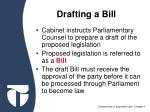 drafting a bill