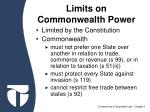 limits on commonwealth power