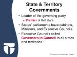 state territory governments