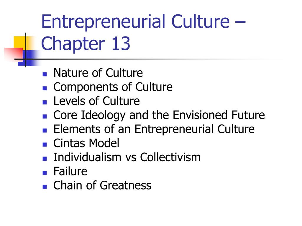 entrepreneurial culture chapter 13 l.