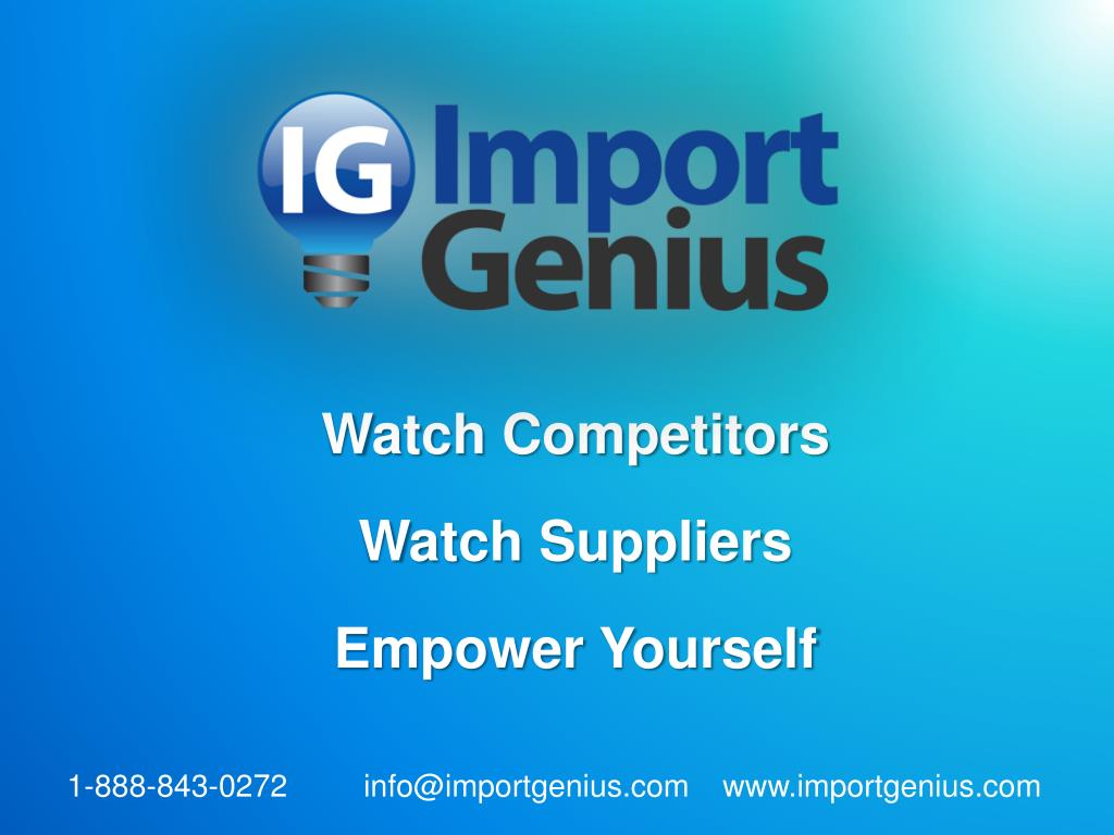 watch competitors watch suppliers empower yourself l.
