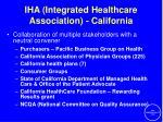 iha integrated healthcare association california