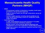 massachusetts health quality partners mhqp