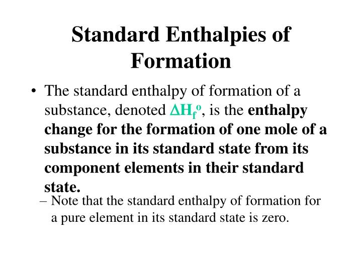 PPT - Standard Enthalpies of Formation PowerPoint ...
