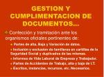 gestion y cumplimentacion de documentos