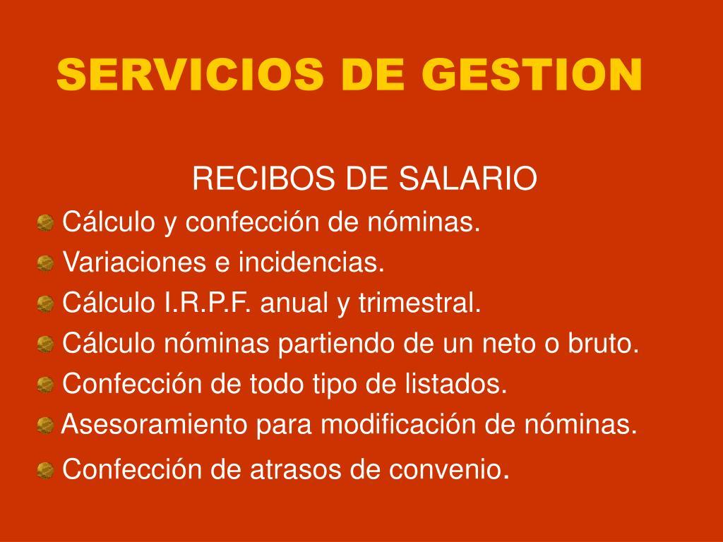 SERVICIOS DE GESTION