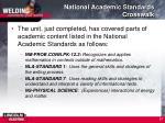 national academic standards crosswalk