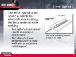 travel speed