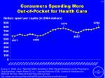 consumers spending more out of pocket for health care