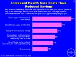 increased health care costs have reduced savings