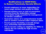 modifications to hdhp hsas to reduce potentially harmful effects