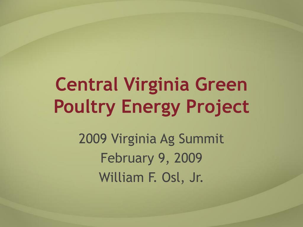central virginia green poultry energy project