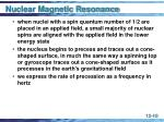 nuclear magnetic resonance10